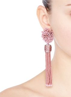 Mignonne Gavigan New York | 'Lana' beaded pompom tassel earrings - $300
