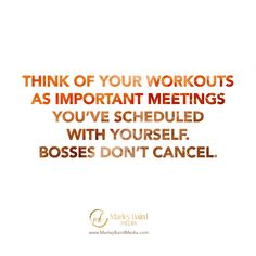 """This one inspired by a conversation with Sunny Lenarduzzi as I applauded her for working out every day at 6 am. She said to me """"I've been taking being a BOSS seriously in all aspects, I'm working out like it's my job. Powerful Quotes, My Job, Conversation, Boss, Inspirational Quotes, Thoughts, Marketing, Workout"""