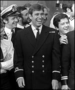 221-Prince Andrew returns from the Falkland Islands on board HMS Invincible
