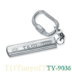 Tiffany and co Outlet Stadium Shape 925 1831 Pendants Key Ring j