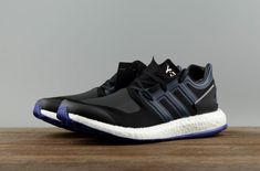 a247c79a0db42 Authentic Adidas Men s Shoes Y-3 Y3 Pure BOOST Leisure Running Shoes BY8956 Black  Blue