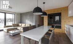Trojizbový byt s betónovou stenou, Bratislava | RULES Architekti