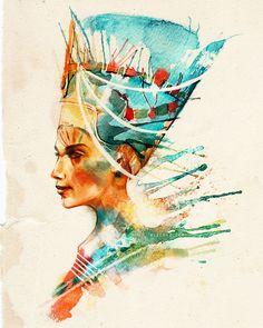 Nefertiti, Queen of Egypt, Royal Badass (and Partner-in-Crime of John Riddell.) Alice X. Zhang