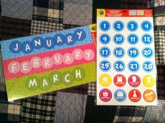 2 Sets OF Calendar Dates Icons 1 SET OF Monthly Headers Teachers Daycares | eBay