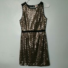 new large sequins gold dress new gold medium sequins dress. the back is partly sheer on the shoulders  also have a Medium in this dress** just ask or look at my other post. one clothing Dresses Mini
