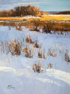 "Peter Fiore - ""January Gold"" ~  24"" x 18"" Oil - painting is available to view at RS Hanna Gallery, Fredericksburg, Texas."