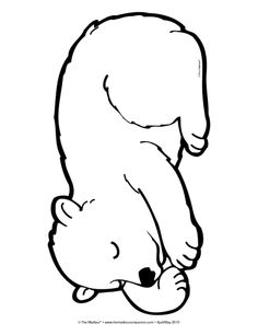 Sleeping Bear, Lesson Plans - The Mailbox Bears Preschool, Preschool Crafts, Bear Crafts, Animal Crafts, North Pole Animals, Bear Template, Woodland Animals Theme, Bear Coloring Pages, Christmas Crafts For Kids To Make