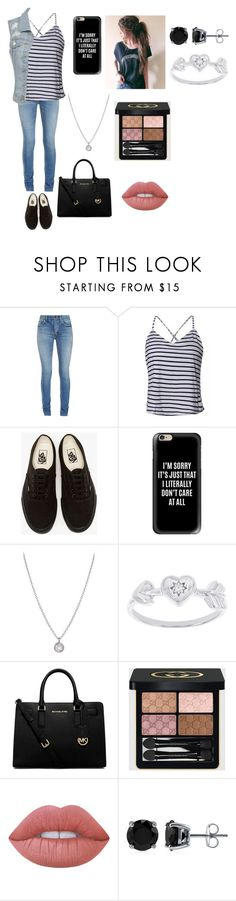 """untitled #56"" by jadahoran123 ❤ liked on Polyvore featuring Yves Saint Laurent, Vans, Casetify, Finn, Modern Bride, MICHAEL Michael Kors, Gucci, Lime Crime and BERRICLE"