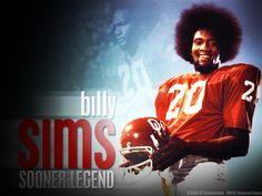 Billy Sims December 7, 1978 Billy Sims is awarded the Heisman Trophy at the annual awards dinner sponsored by the Downtown Athletic Club. The running back from the University of Oklahoma is the sixth junior to win the award.