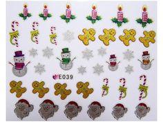 Condividi i nostri prodotti avrai uno sconto del 5 %,fai sapere che ci sei Nail Sticker Natale mod039 #originalnail