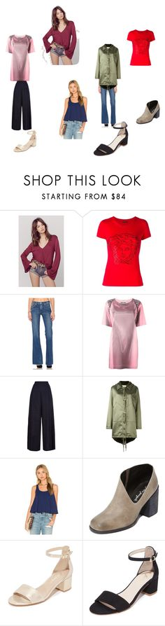 """stay beauty"" by ramakumari ❤ liked on Polyvore featuring Blue Life, Versace, AMO, Moschino, 1205, Faith Connexion, Susana Monaco, Free People and vintage"