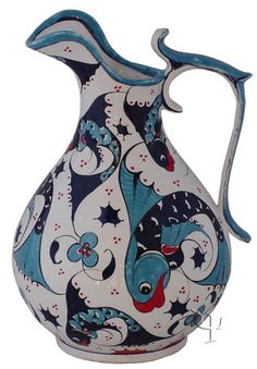 Iznik Design Ceramic Decanter