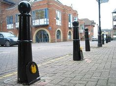Hackney: The only place in UK where bollards are also padlocked to the ground.  (Laurence Hood)