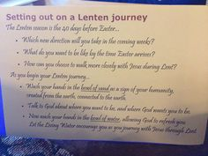 2014 Ash Wednesday | Lenten journey prayer station | Wash hands in bowl of sand to symbolize being connected to the earth; wash hands in bowl of water to begin anew.