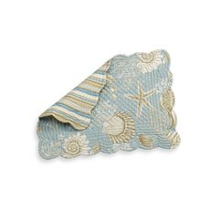 Natural Shell Reversible Placemat and Napkin