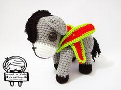 Deleanah the Donkey amigurumi crochet pattern by Sweet N' Cute Creations 42.75