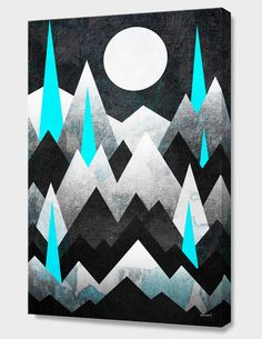 """""""Dark Mountains"""", Numbered Edition Canvas Print by Elisabeth Fredriksson - From $69.00 - Curioos"""