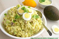 Curry and Comfort: Smashed Potato Salad with Avocado Dressing