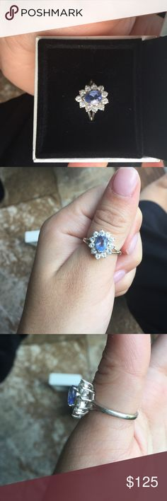 Beautiful Sapphire ring Authentic, got it from my trip to Mexico! It is a gorgeous and very shiny ring. Price is negotiable.. Jewelry Rings