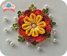 """Artes Mabú Crochê: Flor """"Cheia de Charme"""""""