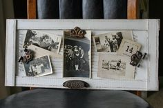 Mamie Jane's: old vent turned photo holder with magnet hinges to hold photos