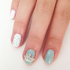 Royal baby nail art in honor of the Prince of Cambridge. So cute!