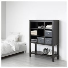 HEMNES Storage unit, black-brown, Sustainable beauty from sustainably-sourced solid pine, a natural and renewable material that gets more beautiful with each passing year. Combine with other products in the HEMNES series. Solid Pine, Solid Wood, Armoire Pax, Home Goods Store, Affordable Furniture, Small Storage, Interior Accessories, Black And Brown, Home Furniture