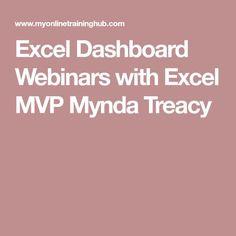 Excel Dashboard Webinars with Excel MVP Mynda Treacy