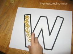 make W12 590x442 Writing the Alphabet for Preschoolers: the letter W