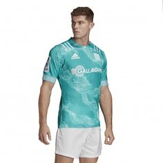 Maillot Rugby Away Chiefs 2020 / adidas Sonny Bill Williams, Super Rugby, Hamilton, Adidas Logo, Online Shopping Australia, Aqua, Turquoise, Seen, Upcycling