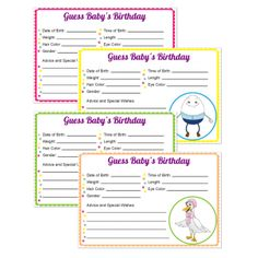 Let Guests Take Their Best Guess For Babyu0027s Date Of Birth, Time Of Birth,