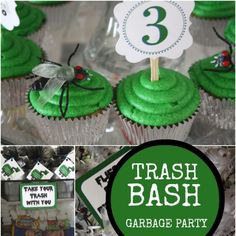 Are you looking for an unusual party theme? This Garbage Truck Birthday Party is trashy but classy!