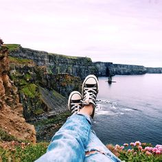 Just Chillin' // Lily rose at Cliffs of Moher, Ireland