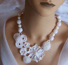 #collana #crochet #designs #patterns #tutorials #necklace #collar #jewelry