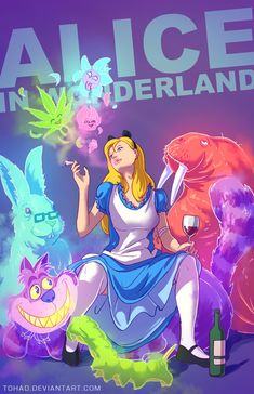 DeviantART user Tohad imagines BADASS versions of classic childhood characters.  In this case: Alice In Wonderland