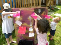Use recyclables to make an outdoor water wall for the kids Cedar Lake, Water Walls, Outdoor Fun, Summer Fun, Things To Do, Crafts For Kids, Activities, How To Make, Kid Stuff