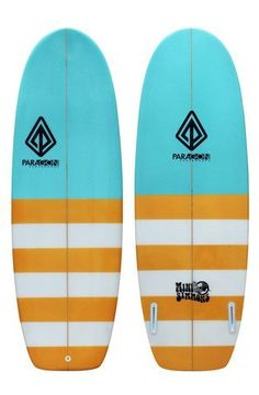 "Paragon Mini Simmons  5'4"" Blue-Orange Surfboard"