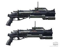 Halo Reach Grenade launcher, Isaac Hannaford on ArtStation at https://www.artstation.com/artwork/halo-reach-grenade-launcher-e0b972c9-3be6-4b4c-adbb-fe1a096fac29