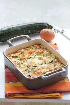 Gratin de Courgettes et Mozzarella // Courgette & Mozzarella Gratin