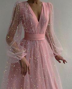 Pretty Prom Dresses, Elegant Dresses, Cute Dresses, Beautiful Dresses, Formal Dresses, Prom Dresses For Teens, Pink Prom Dresses, Tulle Prom Dress, Grad Dresses