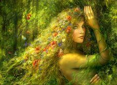 Green Fantasy Art.