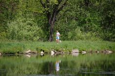 Over 100 miles of trail to run with nature! At the Hennepin Canal Parkway State Park.