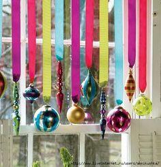 Colorful Christmas Window Decoration
