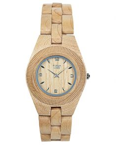 Wooden watch made from maple. For each one purchased a tree will be planted. $119 on Ethical Ocean. #sustainablejewelry