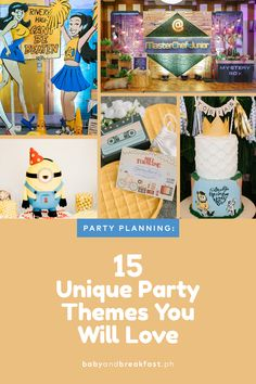 15 Unique Party Themes You Will Love Unique Party Themes, Kids Party Themes, Themes Themes, Cool Themes, Masterchef Junior, Snoopy Party, Archie Comics, People Photography, Birthday Bash