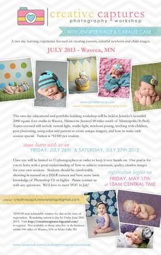 be inspired  ::  newborn and baby photography workshop