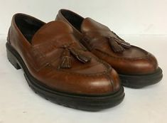 f907cfe69e6 POLO RALPH LAUREN ALM Men s Brown Leather Loafers Shoes Tassel Size 11 D  (D40)