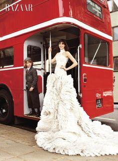 Anne Hathaway for Harper's Bazaar
