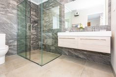 Tiling all the walls and floor of your bathroom not only looks amazing but also gives it the best protection against water damage. Bathroom Shower Panels, Glass Shower, Bathroom Wall, Acrylic Wall Panels, Pvc Wall Panels, Window Squeegee, Wall Railing, Rainfall Shower, Room Tiles