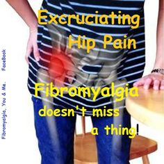 Fibro hip pain. My first symptom of Fibro. tootiredtolivebutstillbreathing.blogspot.com